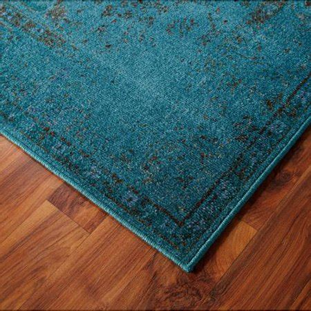 Teal Rug Walmart by Dyed Distressed Traditional Teal Grey Area Rug 6 7