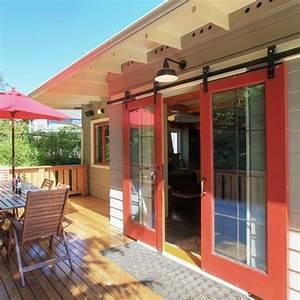 Barn doors home and sliding barn doors on pinterest for Barn style patio doors
