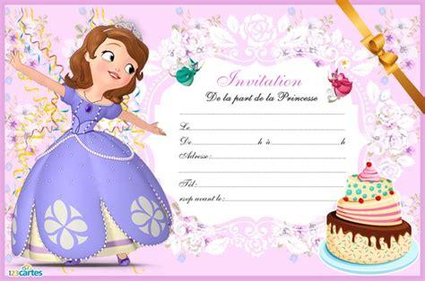 deco anniversaire princesse sofia carte invitation anniversaire princesse sofia 123 cartes id 233 es pour la maison