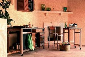 Cuisine En Teck : cuisine d 39 t barbecue en acier inox et cuisine en teck ~ Edinachiropracticcenter.com Idées de Décoration