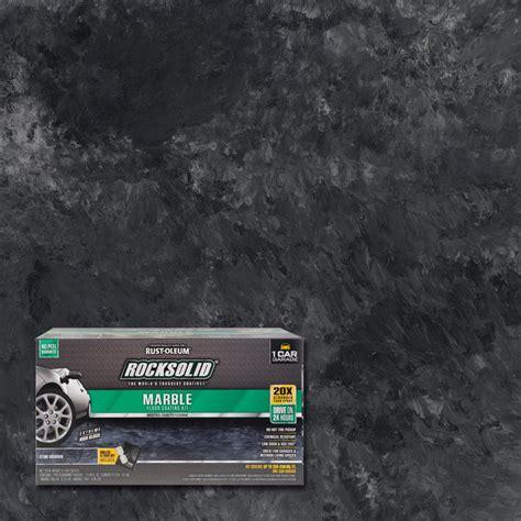 garage floor paint marble rust oleum rocksolid 70 oz marble stone obsidian garage floor kit 306320 the home depot