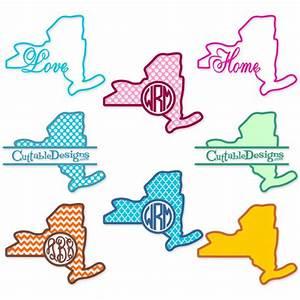 New York Home State Svg Cuttable Designs