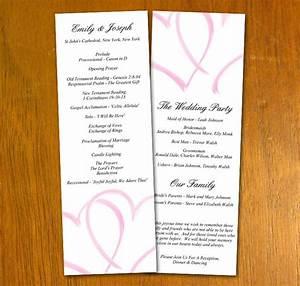 Free wedding templates for Wedding program info