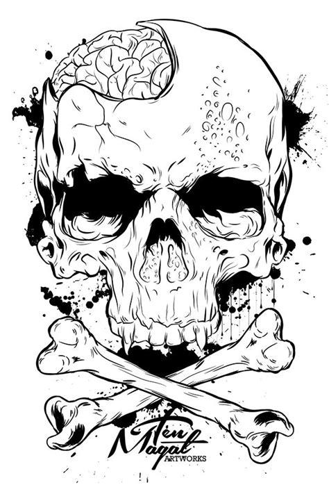 plain practice in 2019   Graffiti canvas art, Brain drawing, Skull tattoo design