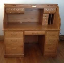 roll top desk winners only oak ebay