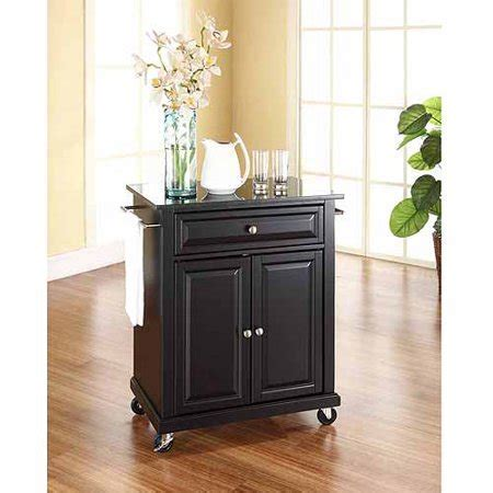 Crosley Furniture Solid Black Granite Top Portable Kitchen
