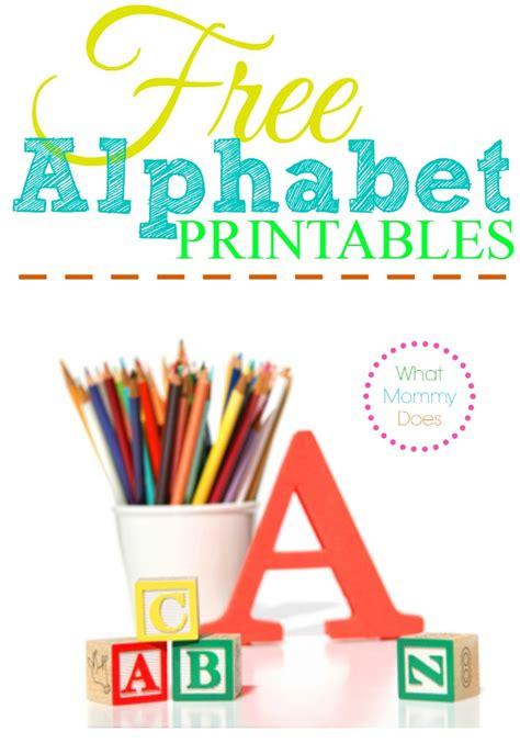 alphabet printables letters worksheets stencils