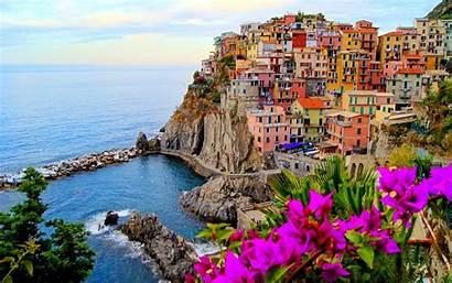 Italy Colorful Landscape Water Building Italia Italya
