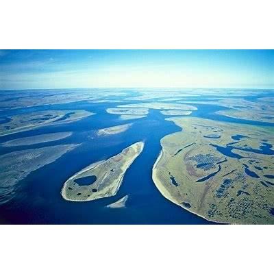 Lena Delta Wildlife Reserve the River near
