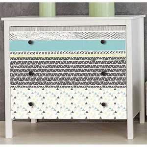 Stickers scandinaves pour meubles et tiroirs gris verts bleus