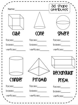 2d 3d shapes common activities centers for