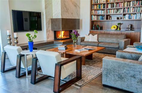 inspiring interior designs focused  corner fireplaces