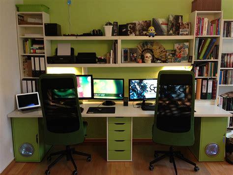 bureau gamer ikea ikea doubledesk workspace ikea hackers
