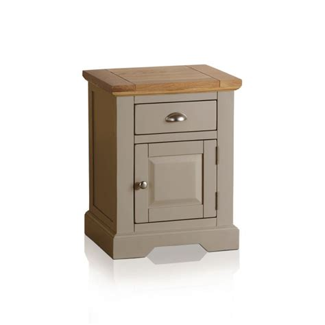 C Light Bedside Table By Primo by St Ives Grey Bedside Table With Brushed Oak Top