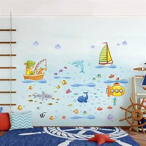 Wandtattoo Unterwasserwelt Kinderzimmer : atemberaubend kinderzimmer meer gestalten fotos die ~ Sanjose-hotels-ca.com Haus und Dekorationen