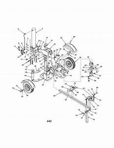 Craftsman Model 247774500 Log Splitter Genuine Parts