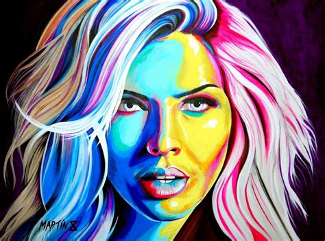 Pin En Martin X Art Pop Art Portraits Colorful