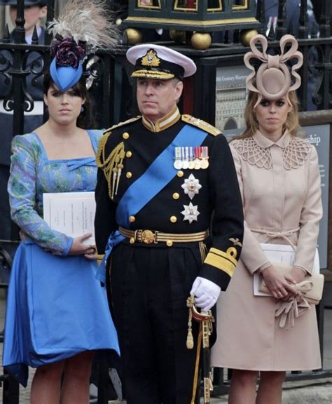 Prince Andrew, his daughters and their hats arrive at ...