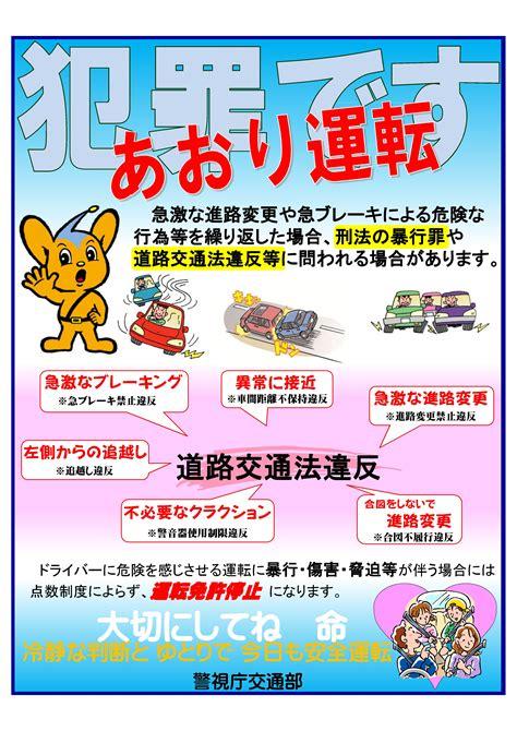 警視庁 あおり運転 ポスター
