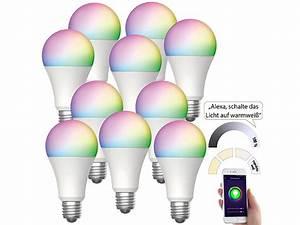 Lampen Wlan Steuerung : luminea home control alexa gl hbirne e27 10er set wlan ~ Watch28wear.com Haus und Dekorationen