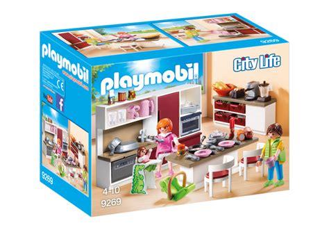 playmobil cuisine moderne playmobil set 9269 large family kitchen klickypedia
