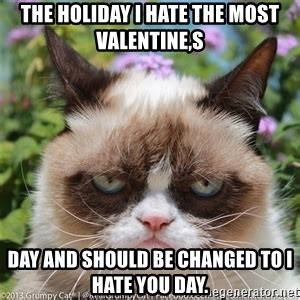 I Hate Valentines Day Meme - too bad your mouth has no silent mode i hate valentine s day grumpy cat meme generator