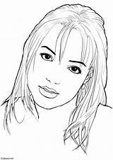 Britney Spears Coloring Kleurplaat Malvorlage Coloriage Imprimer Printable Edupics Kleurplaten Zum Ausmalbilder Copyright Afbeelding Grote sketch template
