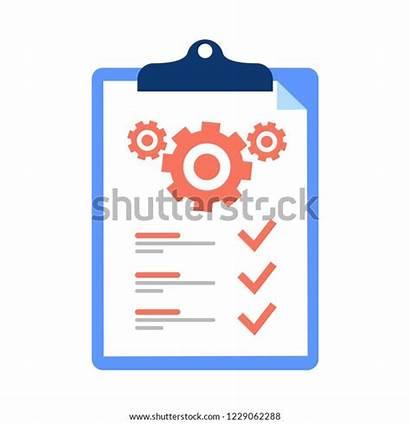 Technical Check Support Vector Icon Cogwheel Clipboard