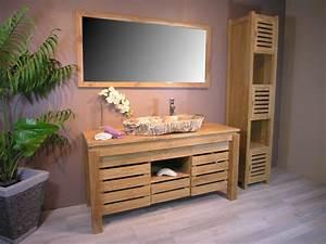 Meuble Salle De Bain Zen : meuble salle de bain zen ~ Teatrodelosmanantiales.com Idées de Décoration