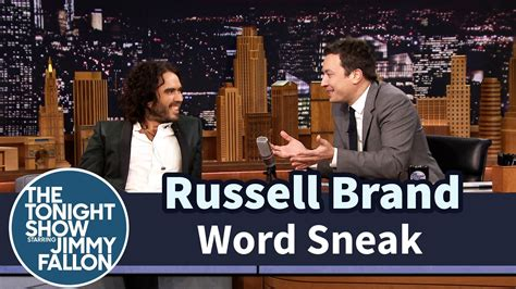 russell brand jimmy fallon word sneak with russell brand russell brand pinterest