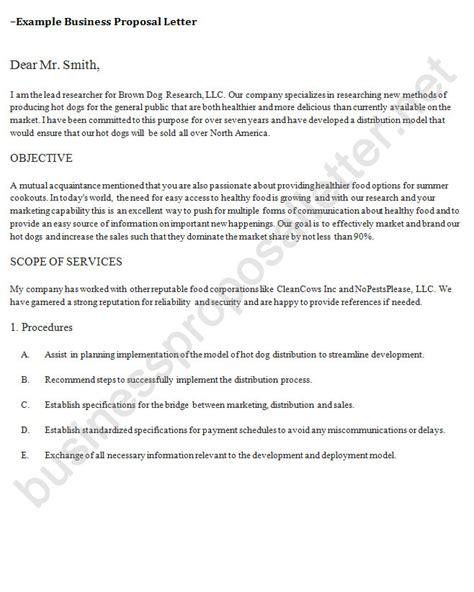 business partnership proposal letter business proposal