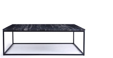 table basse design marbre noir et m 233 tal noir