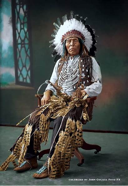 Native American Colorized Indian Americans Indians Chief