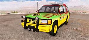 Gavril Roamer Tour Car Jurassic Park For Beamng Drive