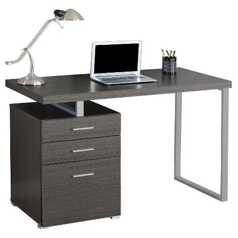 Computer Desk With Drawers by Computer Desk With Drawers Gray Everyroom Target