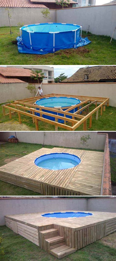 stunning  budget floating deck ideas   home