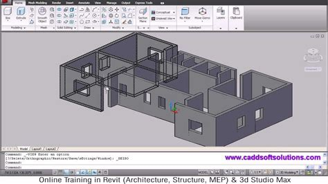 home design cad autocad 3d house modeling tutorial 1 3d home design