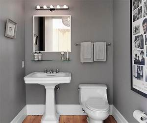 Small bathroom paint ideas with grey home interiors for Small bathroom paint ideas
