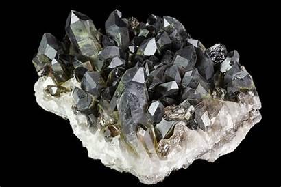 Quartz Smoky Brazil Cluster Dark Crystal Crystals