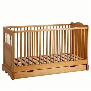 Lit Bébé Avec Tiroir : le lit avec tiroir en pin massif pour b b la redoute ~ Melissatoandfro.com Idées de Décoration
