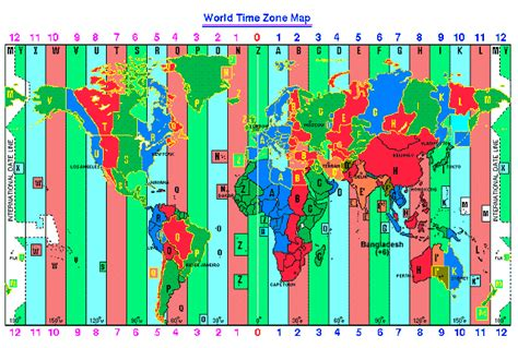 world map standard time zones