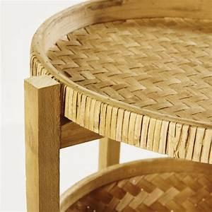 Canapé En Bambou : bout de canap en bambou tress et sapin mekong maisons du monde ~ Melissatoandfro.com Idées de Décoration