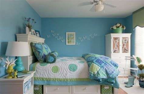 chambre ado gar輟n york wandgestaltung wohnzimmer chambre bleu fille deco chambre ado fille en bleu et papillons