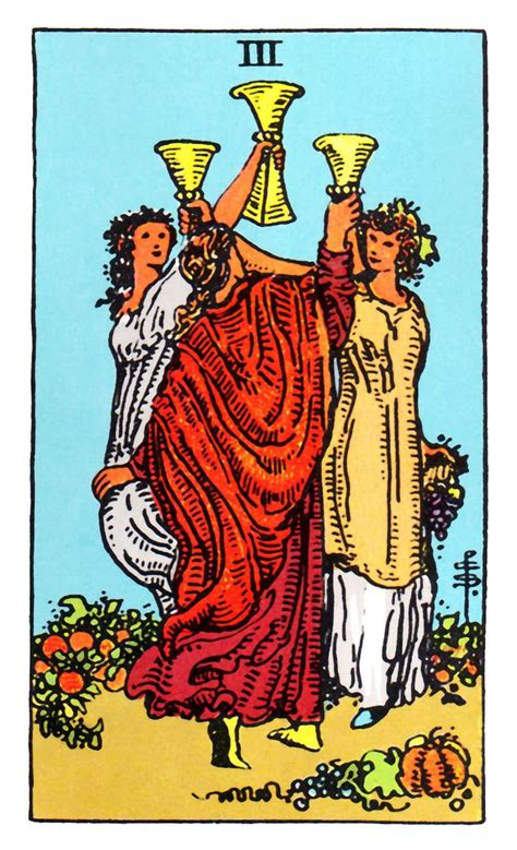 Check spelling or type a new query. Three of Cups ~ Rider Waite | Cups tarot, Rider waite tarot decks, Tarot card meanings