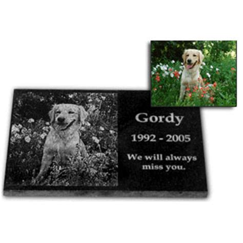 personalized photo etched memorial