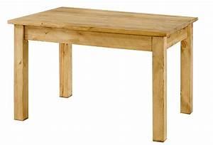 Table En Pin Massif : table repas pin massif 120x80 cm allonges en option ~ Teatrodelosmanantiales.com Idées de Décoration