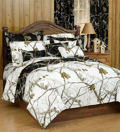 ap black and white queen size camo comforter sham set