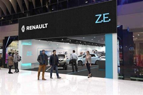 renault si e social t hone renault ecco il primo negozio per le auto elettriche