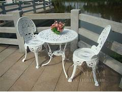 Garden Table And 2 Chairs Set by CAST ALUMINIUM GARDEN FURNITURE SET TABLE AND 2 CHAIRS VICTORIAN STYLE