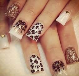 Acrylic nail designs cheetah art and design